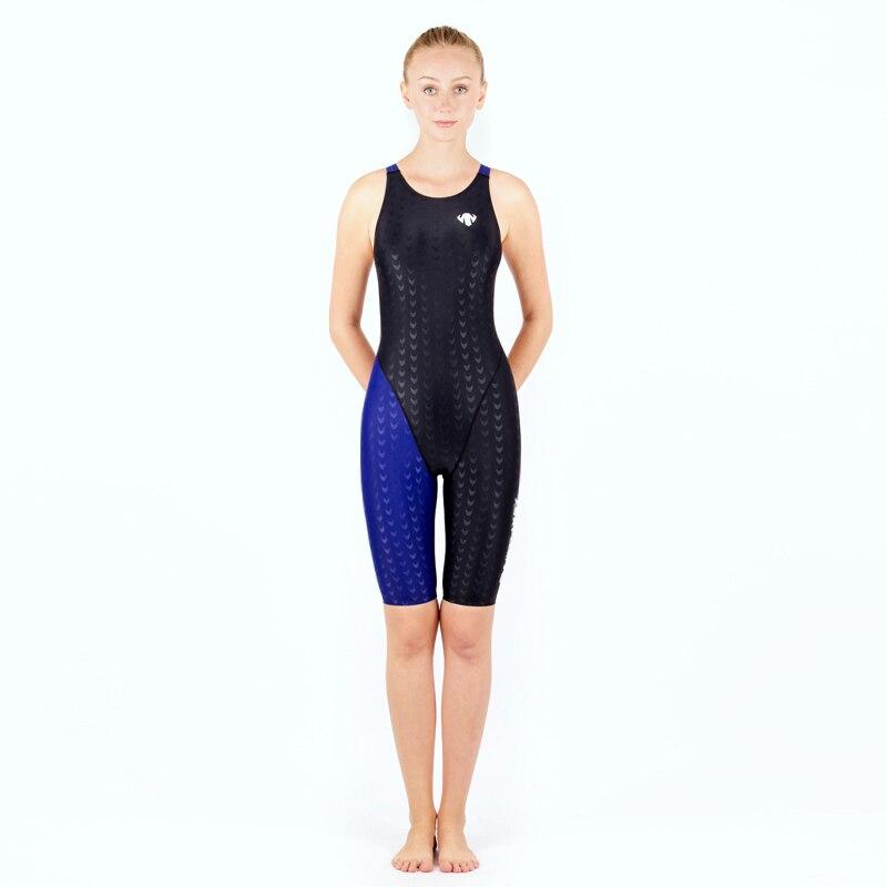 Shark Skin One piece Swimsuit Plus Size Swimwear Women 2017 Swim Suit Competition Bathing Suit Bodysuit Surfing Suits Wetsuit plus size scalloped backless one piece swimsuit