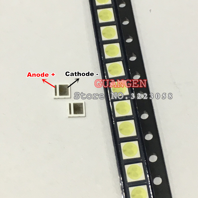 200pcs LED Backlight High Power LED 1.8W 3030 6V Cool white 150-187LM PT30W45 V1 TV Application 3030