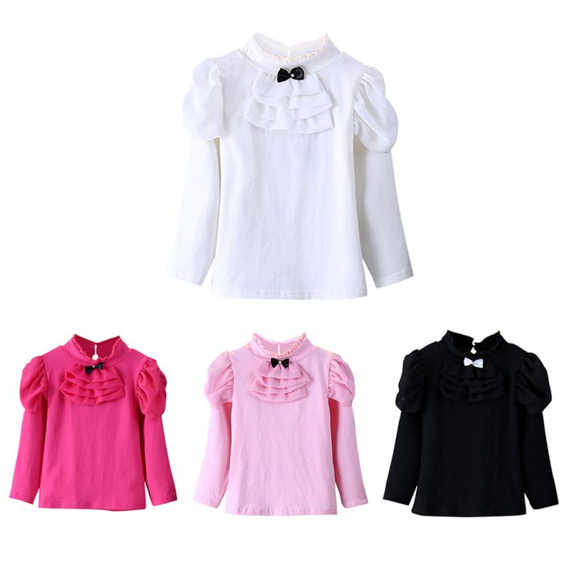 T-Shirt Winter Long-Sleeved Clothing Girls Tops Baby-Girl Design Cotton Children Spring