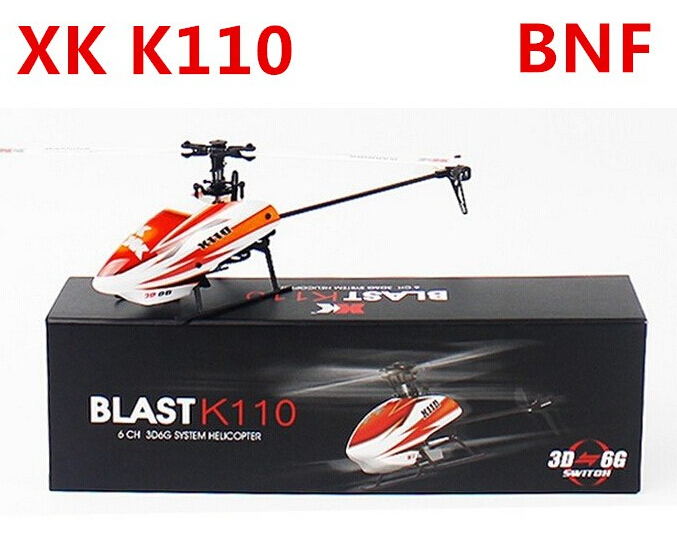 XK K110 Blash 6CH Brushless 3D6G System RC Helicopter BNF Without Remote Controller Compatible with FUTABA S-FHSS xk k123 bnf 1 without remote control with battery