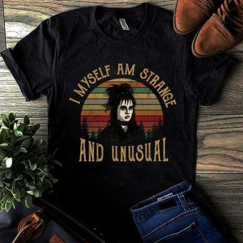 Lydia Beetlejuice I Myself Am Strange And Unusal Vintage Tshirt Men S 6Xl