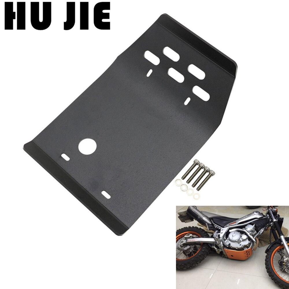Protection de châssis de Protection de moteur de plaque de dérapage de moto en aluminium pour Yamaha Serow XT250 Tricker XG250 toute l'année