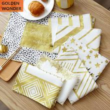 Golden Color Dinning Table Mat Waterproof Oil proof Placemat Coaster 45X30CM Insulated Food Photo Background