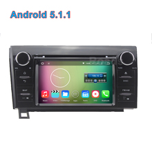 5.1.1 Quad core 1024*600 Android Carro DVD Player de Rádio GPS para Toyota Tundra Sequoia com Mirror-link BT WIFI