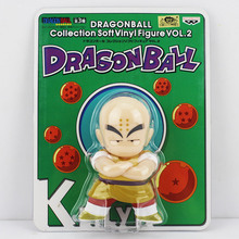 """3Pcs Cartoon Dragon Ball Goku Kuririn Oolong 5""""12cm"""