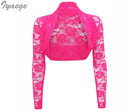 New Short Lace Shawl Cardigan Blouse Shirts Plus Size Casual Solid Stand Collar Kimono Women Clothing