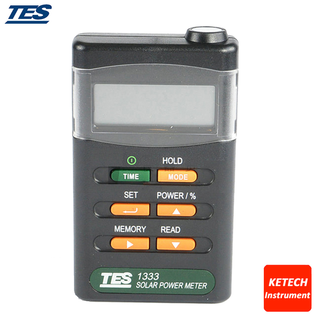 Solar Power Meters Digital Radiation Detector Solar Cell Energy Tester TES1333