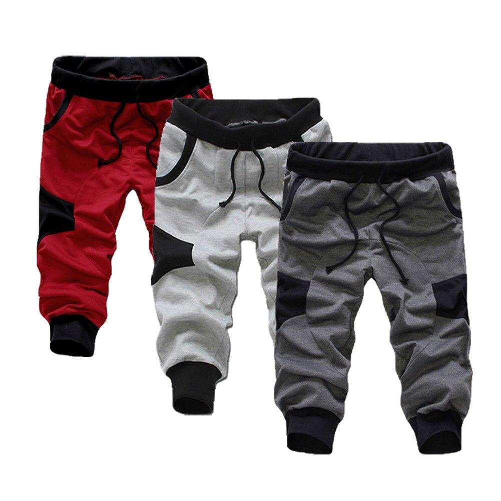 HOT 2018 Outdoor Summer wear Elastic Italy's digital printing design GYM Sport Jogging Capri pants male Running trousers