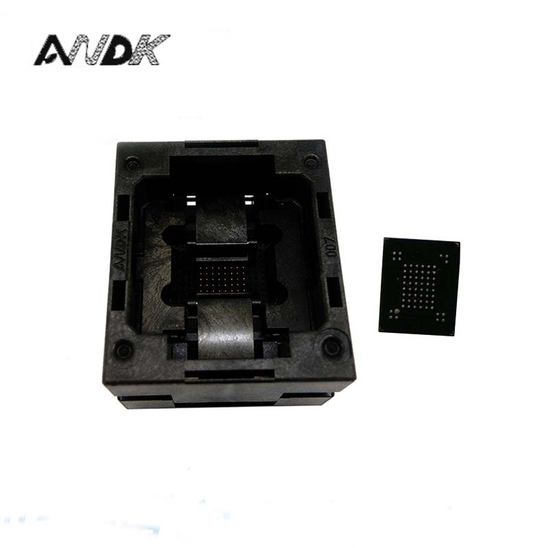 VFBGA63 BGA63 Burn in Socket Test Socket Pin Pitch 0.8mm IC Body Size 10.5x13.5mm,9x11mm Programmer Adapter Burning Socket superpro5000 5004 private cx5004 burning fbga64 adapter test