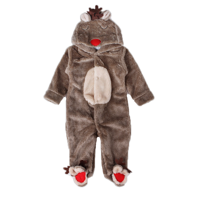 Baby Boy Romper Baby Clothing Winter Overalls for Boy Long Sleeve Snowsuit for Newborn Baby Clothes Coral Fleece elk Jumpsuits newborn baby boy rompers autumn winter rabbit long sleeve boy clothes jumpsuits baby girl romper toddler overalls clothing