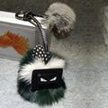 Настоящее Подлинная Рекс кролика помпоном лиса Брелок женщины Сумку автомобиль Очарование Животных Кулон Симпатичный Мини Небольшой лисы Меховой помпон. брелки