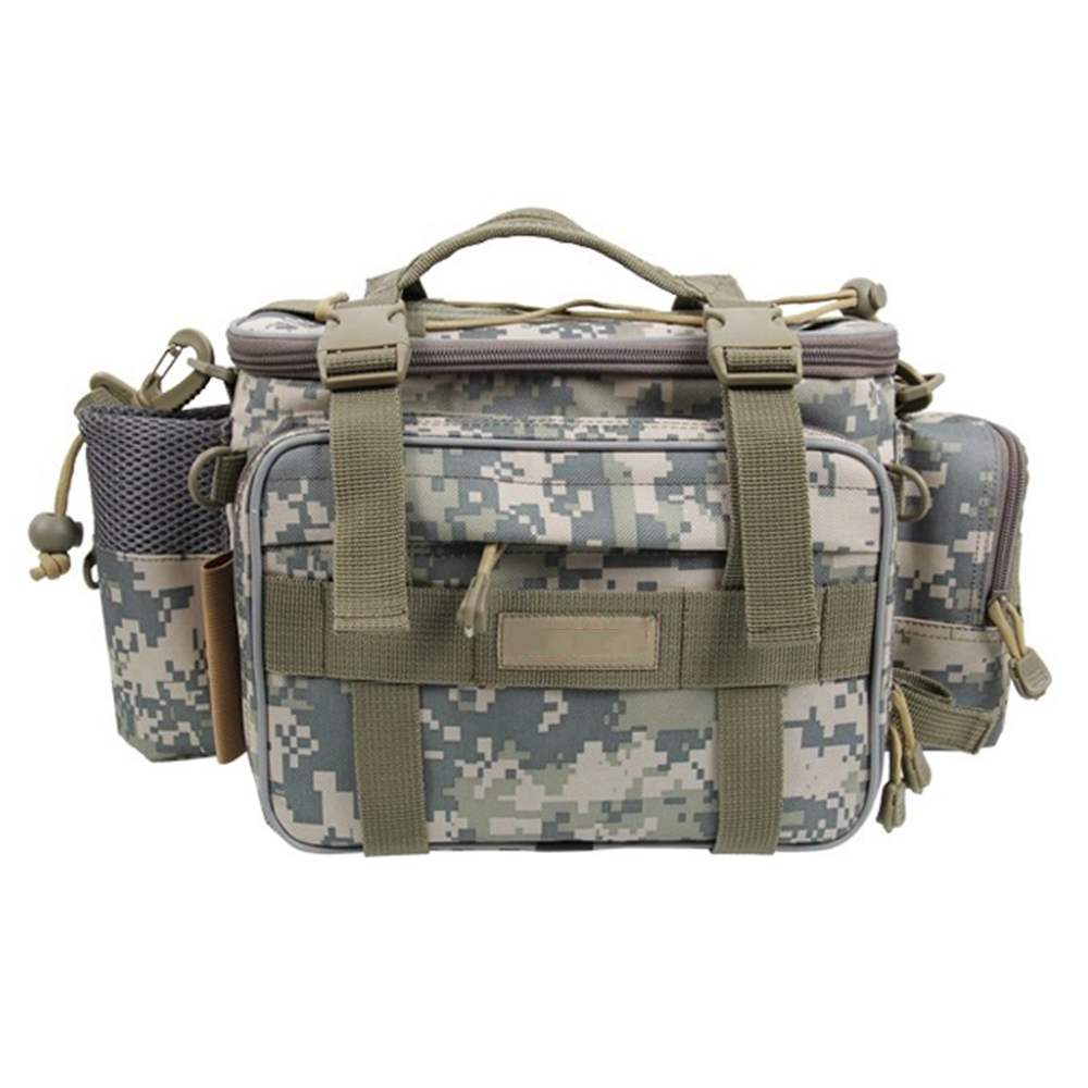 ФОТО 40 * 15 * 19cm Fishing Bag Multi-function Fishing Tackle Bag Waterproof Canvas Waist Fishing Lure Bag Shoulder