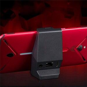Image 1 - סוג C שולחני מטען Dock עבור נוביה אדום קסם 3 Smartphone 3.5mm אוזניות חור טעינת תחנת מטען עבור נוביה אדום קסם 3
