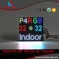 Высокое Качество HD 4 мм P4 СВЕТОДИОДНЫЙ Рекламный Видео SMD RGB Полноцветный СВЕТОДИОДНЫЙ Дисплей Модуль Экрана Размер 128*128 мм 32*32 Пикселей
