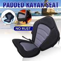 Deluxes Padded Kayak Boat Seat Rowing Boat Soft Antiskid Padded Base High Backrest Adjustable Kayak Cushion with Backrest