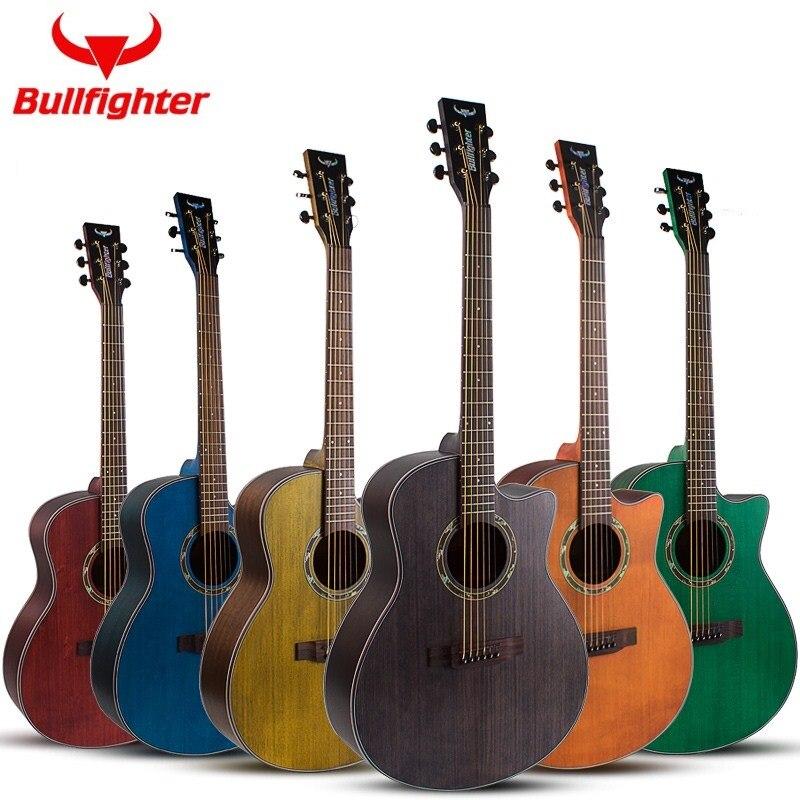 41 pouces Dreadnought et Auditorium d'épinette plateau en bois massif guitare acoustique doigt-style top solide en bois guitare de voyage populaire guitare