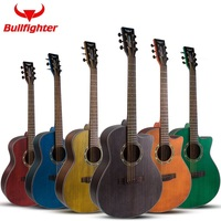 41inch Dreadnought and Auditorium spruce solid wood top acoustic guitar finger style top solid wooden guitar travel folk guitar