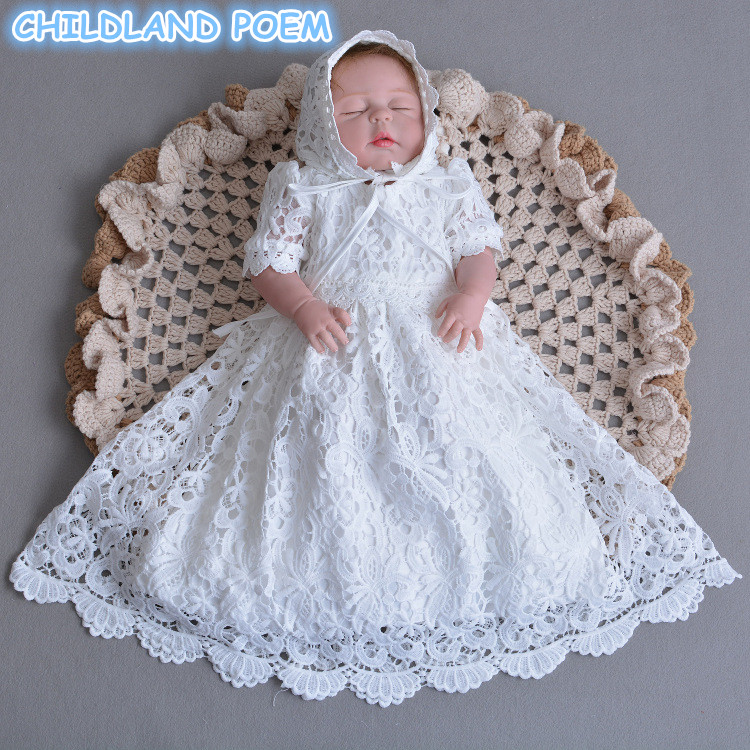 1 Year Birthday Baby Girl Dresses For Baptism Infant Princess Tulle Dress Wedding Christening Gown Newborn Toddler Bebes Clothes baby girl clothes sets infant clothing suits toddler girl birthday outfits tutu one year set baby product gift for newborn bebes