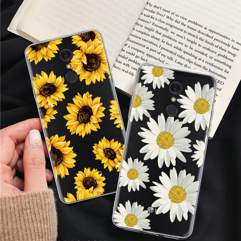 For <font><b>LG</b></font> V20 V30 Case For <font><b>LG</b></font> G4 G5 G6 K4 K8 K10 2017 Sunflower Phone Case For <font><b>LG</b></font> <font><b>K11</b></font> Plus Q6 Q7 X Power 2 Soft Silicone Back Cover image