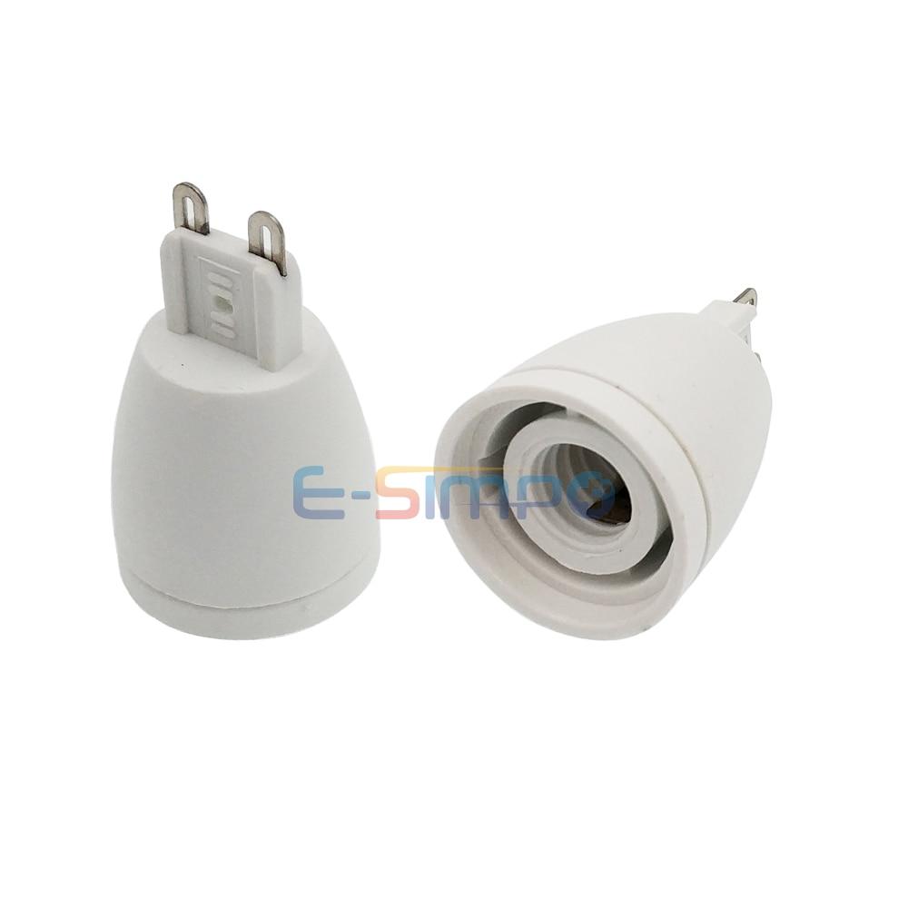 2pcs G9 To E12 Light Socket Adapter, G9 To US Standard Chandelier Lamp Socket Converter