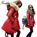 FANTFUR 2017 Winter White Duck Down Jacket Coat Women'S Parkas Large Raccoon Fur Collar Hooded Woman Outwear Loose Large Size