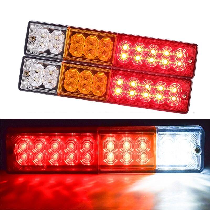 Waterproof 20 Leds ATV Trailer Truck LED Tail Light Lamp Yacht Car Taillight Reversing Running Brake Turn Lights 12V