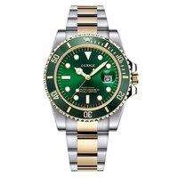2018 latest Luxury role Mens Watches Top Brand Military Sport Quartz Watch Green Bezel Mans Waterproof Steel gmt men;s watches