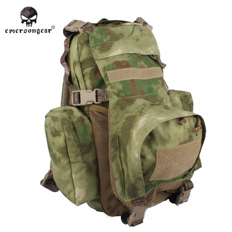 Emersongear Yote Rucksack Hydration Tactical Bag 1000D Cordura Molle Military Tactical Backpack Shoulder Hunting Bag AT-FG emerson yote rucksack hydration tactical bag 1000d cordura molle military tactical backpack shoulder hunting bag highlander