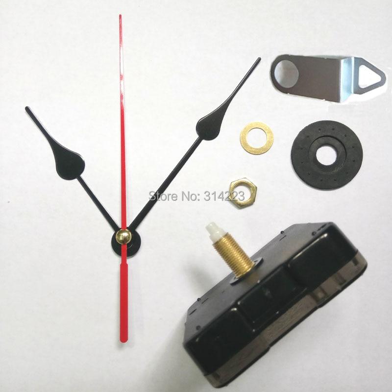 WholesaleMute Scanning Quartz Clock Movement For Clock Mechanism Repair DIY Clock Parts Accessories Shaft 20mm Free Shipping