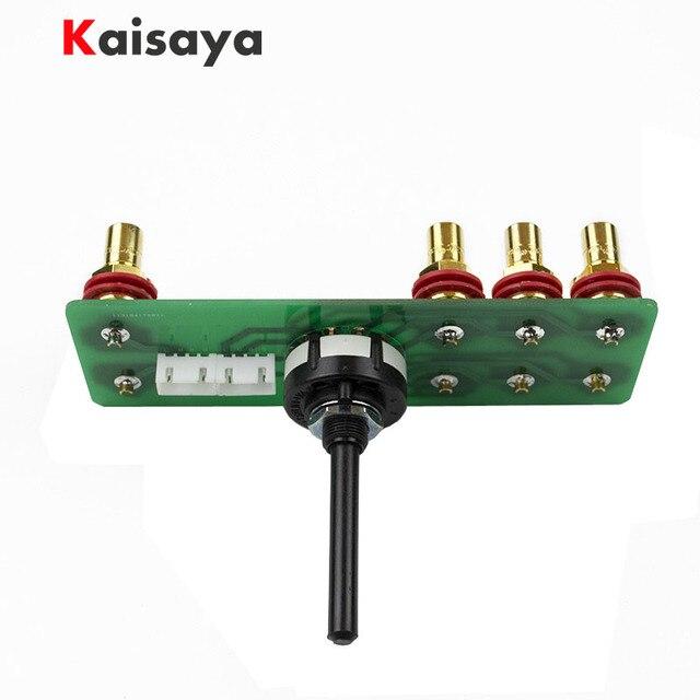 LORLIN UK 2 kanal 3 speed audio eingang selector schalter kupfer überzogene silber quelle auswahl DIY kit für hifi verstärker A10 009