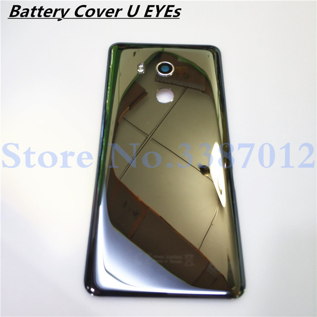 new products 58d7d d47d3 US $39.9 5% OFF|Glass Back Rear Housing Door 5.99 inch For HTC U11 EYEs  Back Battery Cover Case with Camera Lens Replacement Parts-in Mobile Phone  ...