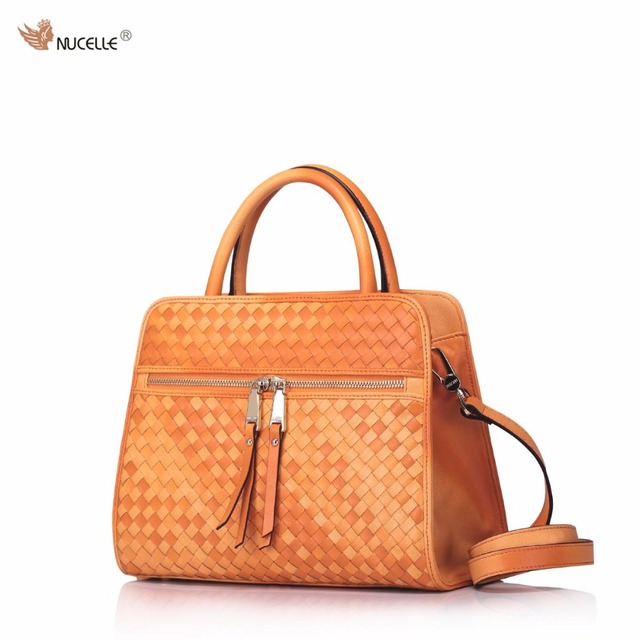 NUCELLE Brand Women's Designer Handbags Luxury Genuine Sheepskin Leather Braided Ladies Shoulder Bag Crossbody Bags For Women