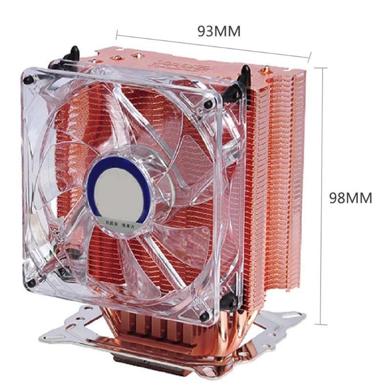 Ventilateur refroidisseur de processeur roulement fluide cuivre 4 broches ventilateur de refroidissement radiateur pour AMD 2066/115X/2011