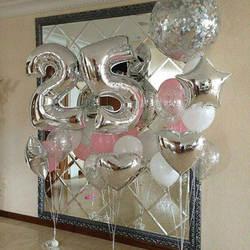32 дюйма розовые, золотые, серебряные воздушные шары фольги большого размера для украшения дня рождения свадьбы