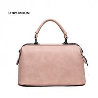 2015 Fashion Fur Ball High Quality Leather Vintage Doctor Bag Shoulder Handbags Women Messenger Bag Small