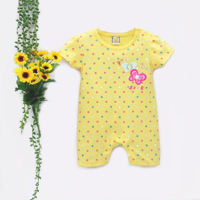 2019 Pure Cotton Short Baby Bodysuit Spring Girl Fashion One Pieces Jumpsuit Newborn Sleepwear Children Kidswear Boys Clothing