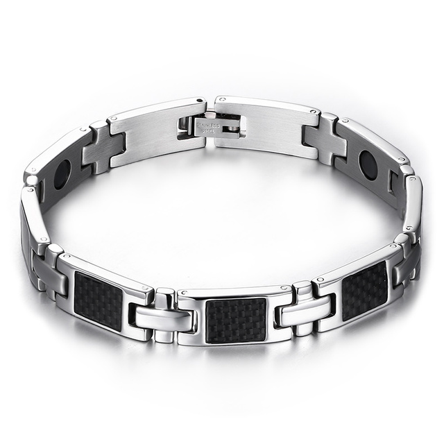 Bracelet with Carbon Fiber Inlay and with magnets