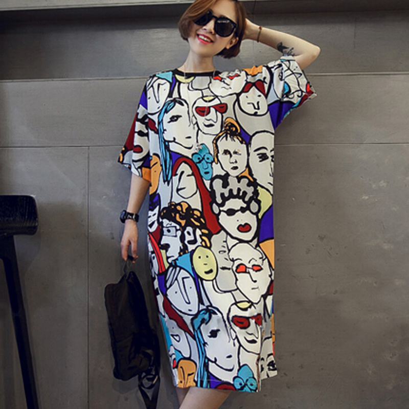 Plus Size Women Homewear Short Sleeve Stain Sleep Night Gown Dress Cartoon   Nightgown     Sleepshirt   Sleepwear Nightwear Nuisette