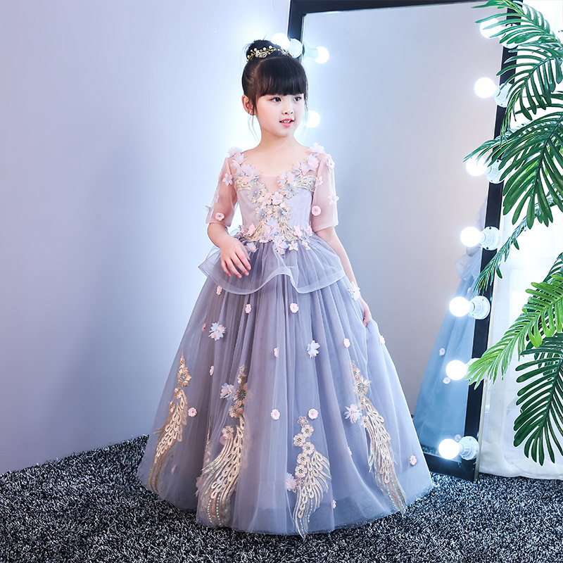 090c8c1e1 1-12 Years Luxury Holy Communion Dress Ball Gown Flower Girl Dresses for  Wedding Floor