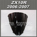 Motorcycle For Kawasaki ZX10R 2006 2007 06 07 Windshield/Windscreen Black Motorcycle Part