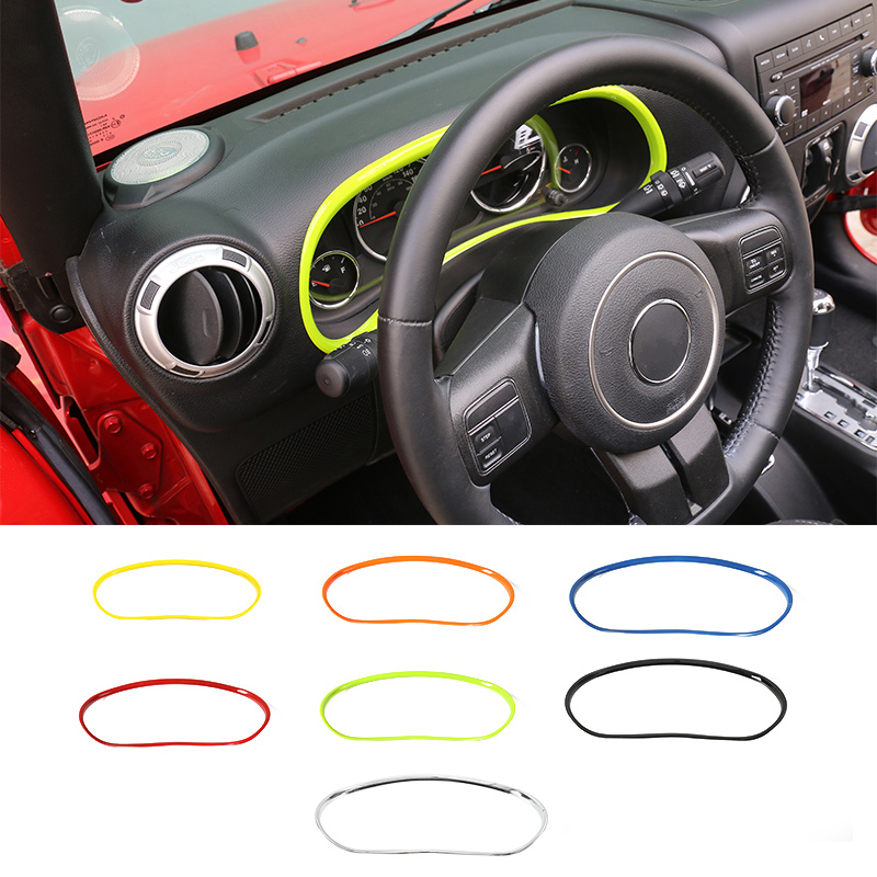 MOPAI ABS Car Interior Decorative Accessories Dashboard Decoration Ring Trim Stickers Fit For Jeep Wrangler 11 Up Car Styling