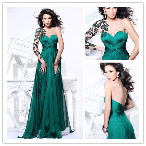Popular Emerald Green Prom Gown-Buy Cheap Emerald Green Prom Gown ...