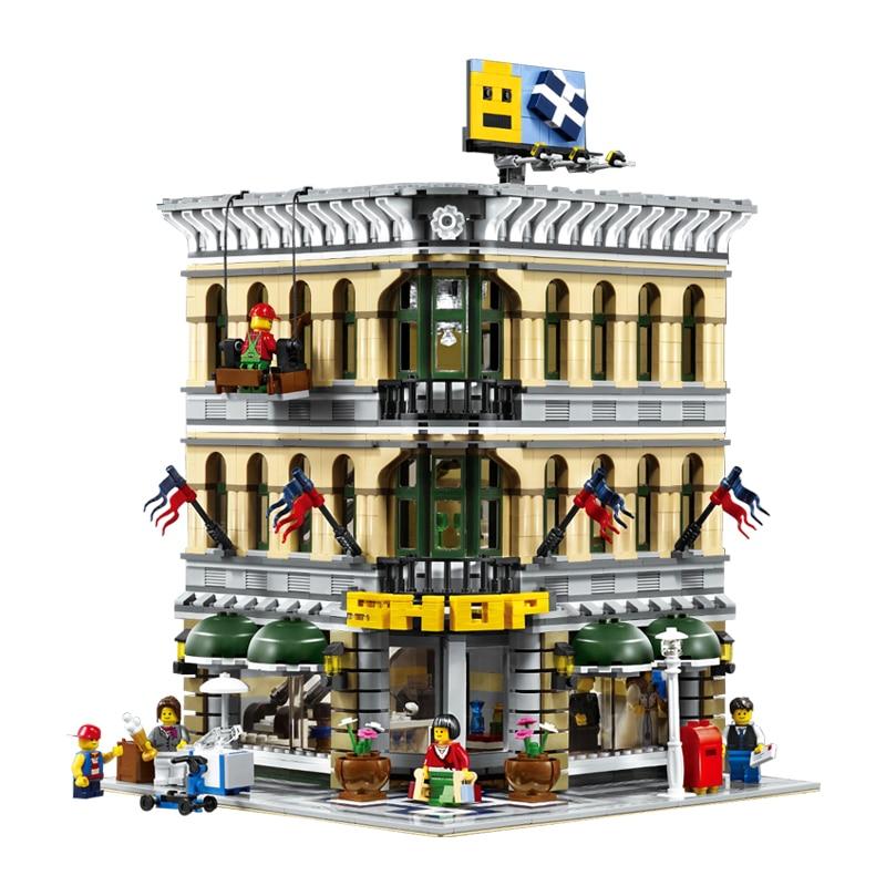 Lepin 15005 2232Pcs City Grand Emporium Model Building Blocks Kits Brick Toy Compatible 10211 lepin 22001 pirate ship imperial warships model building kits blocks 1717pcs brick toy compatible with lepin 10210