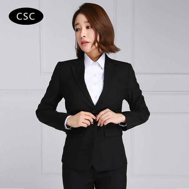 Women s Suit Blazer Jacket Female Slim fit Ladies Blazers Women Suit Jacket  Two Buttons Blazer Feminino Business Suits for women 6631816591