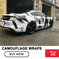 Camouflage Vinyl Wrap Camo Camouflage Sticker Foil Car Body Cover Wrapping Size: 1.52*5/10/15/20/25/30m For SUV TRUCK Jeep