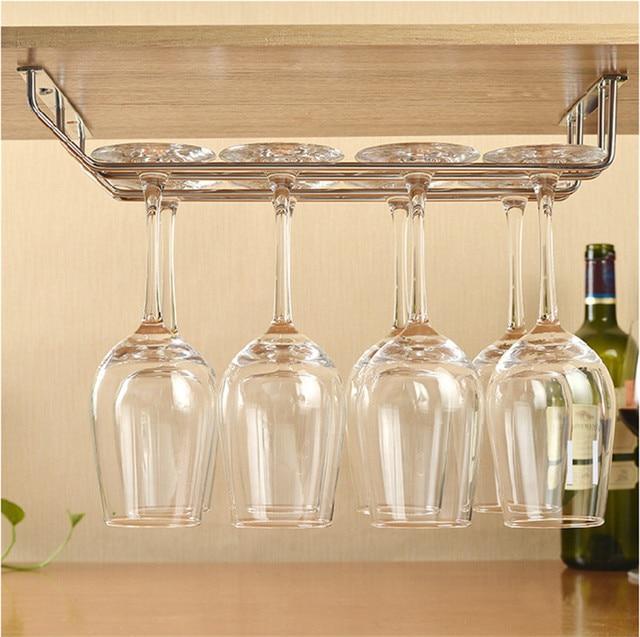 1234 Row Stainless Steel Wine Glass Holder Stemware Rack Under
