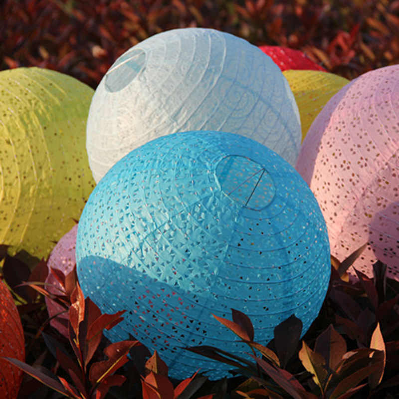 10''25cm Hollow Out Paper Lantern Balloon Chinese Round Paper Lantern Ball Lampion for Festival Wedding Decoration Party Favor