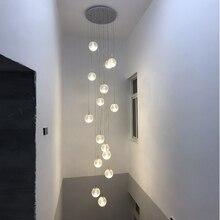 Современный минималистский столовая Книги по искусству подвесные светильники Гостиная творческая личность вилла двойной вращающийся лестницы подвесные светильники стеклянная люстра Подвесной светильник