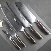 HAOYE 5 pcs damascus kitchen knife set Japanese vg10 steel chef knife santoku cooking tool Cutlery rosewood handle NEW