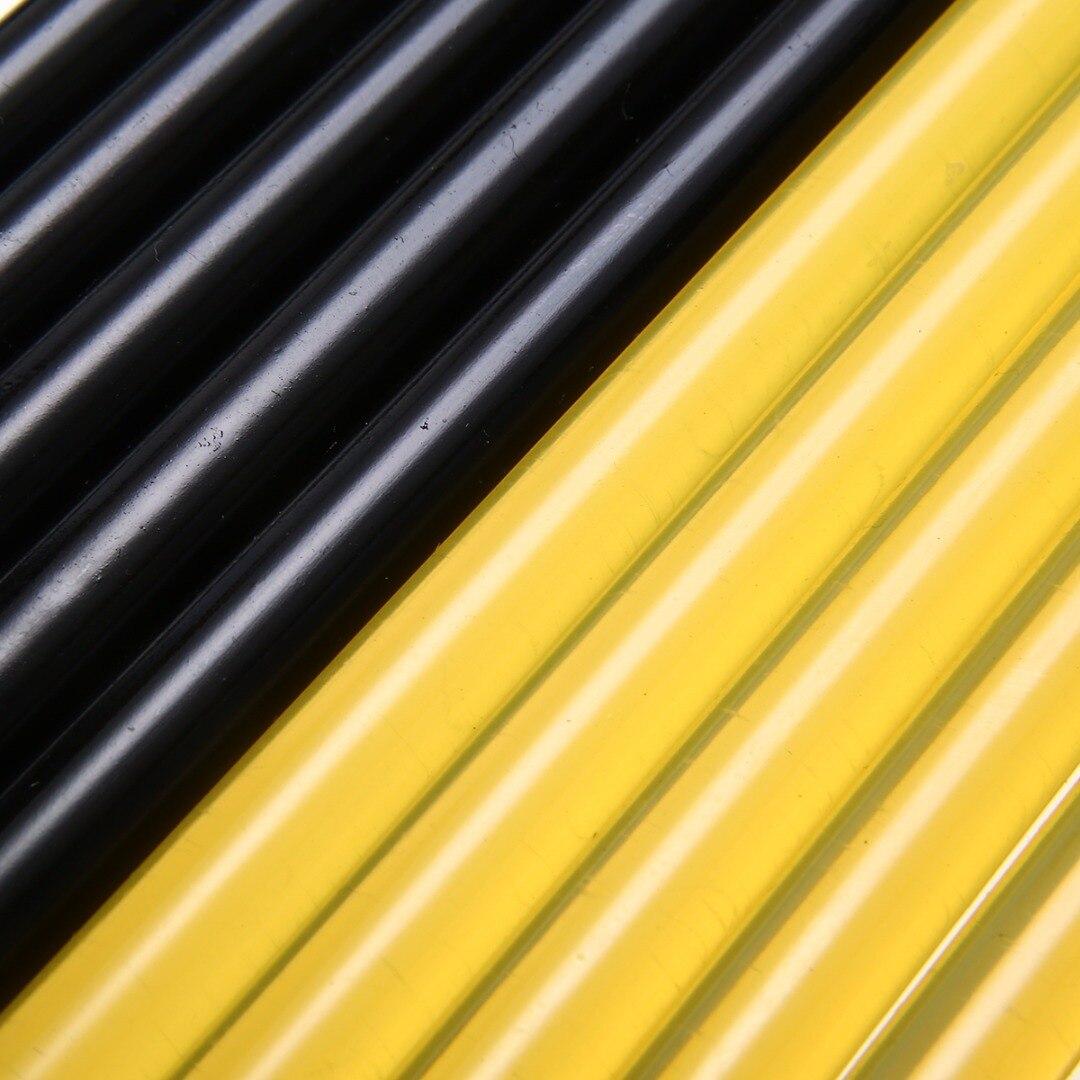 10pcs New Car Body Paintless Hot Melt Glue Sticks Dent Repair Tool Auto Hail Removal Kit 27cm x11mm Yellow + Black